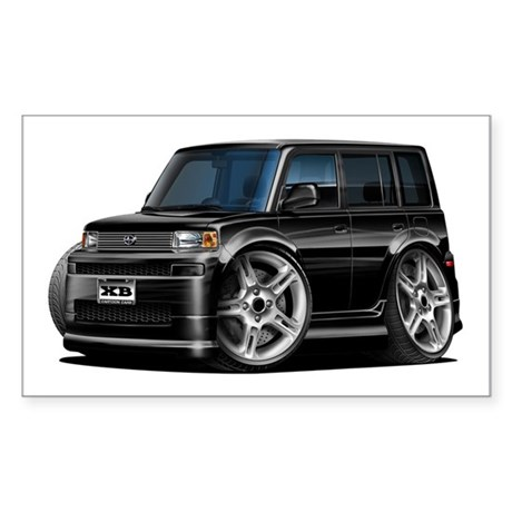 scion black car. scion xb black car sticker rectangle h